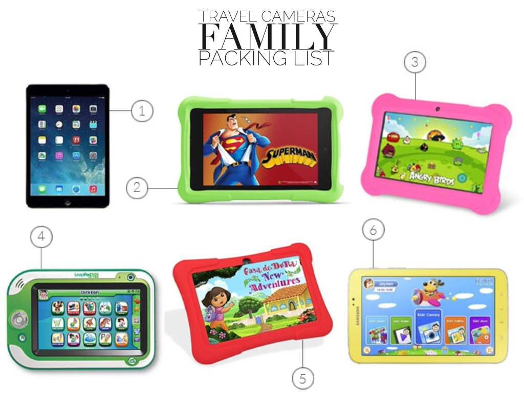 Tablet Family Packing List