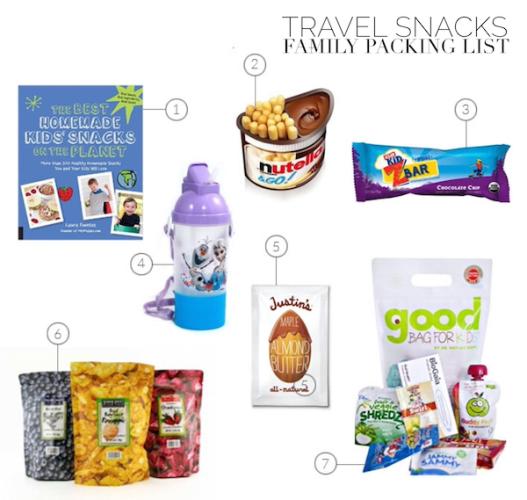 Tablet Family Packing List Snacks
