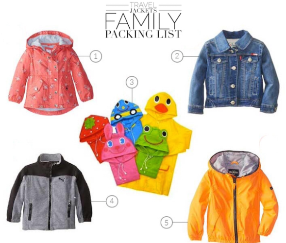 Tablet Family Packing List Jackets