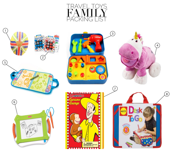 Travel Toys Family Packing List