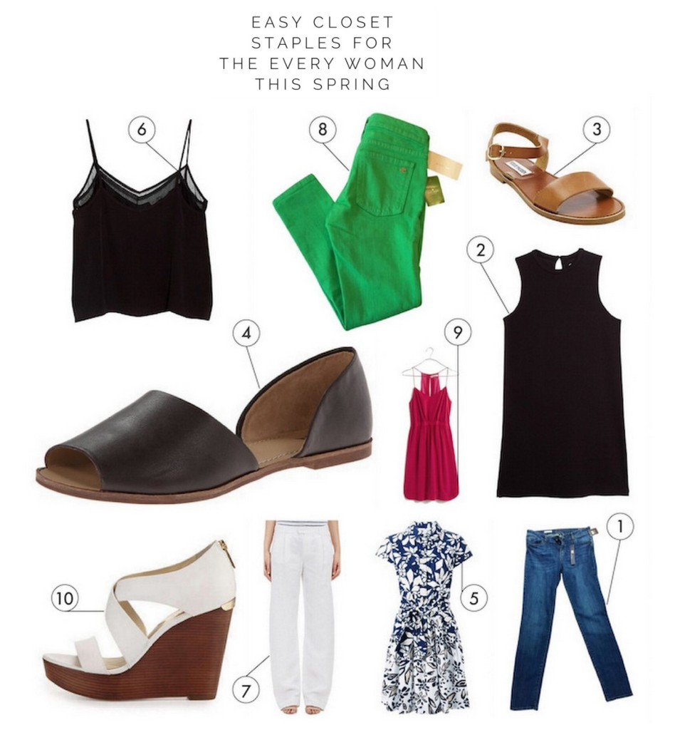 Easy Closet Staples for Spring and Summer