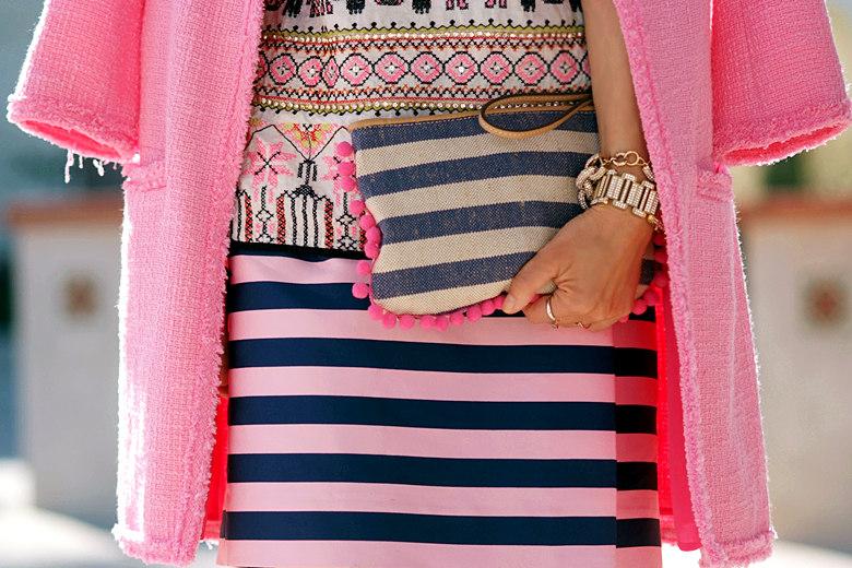 mix prints pinks