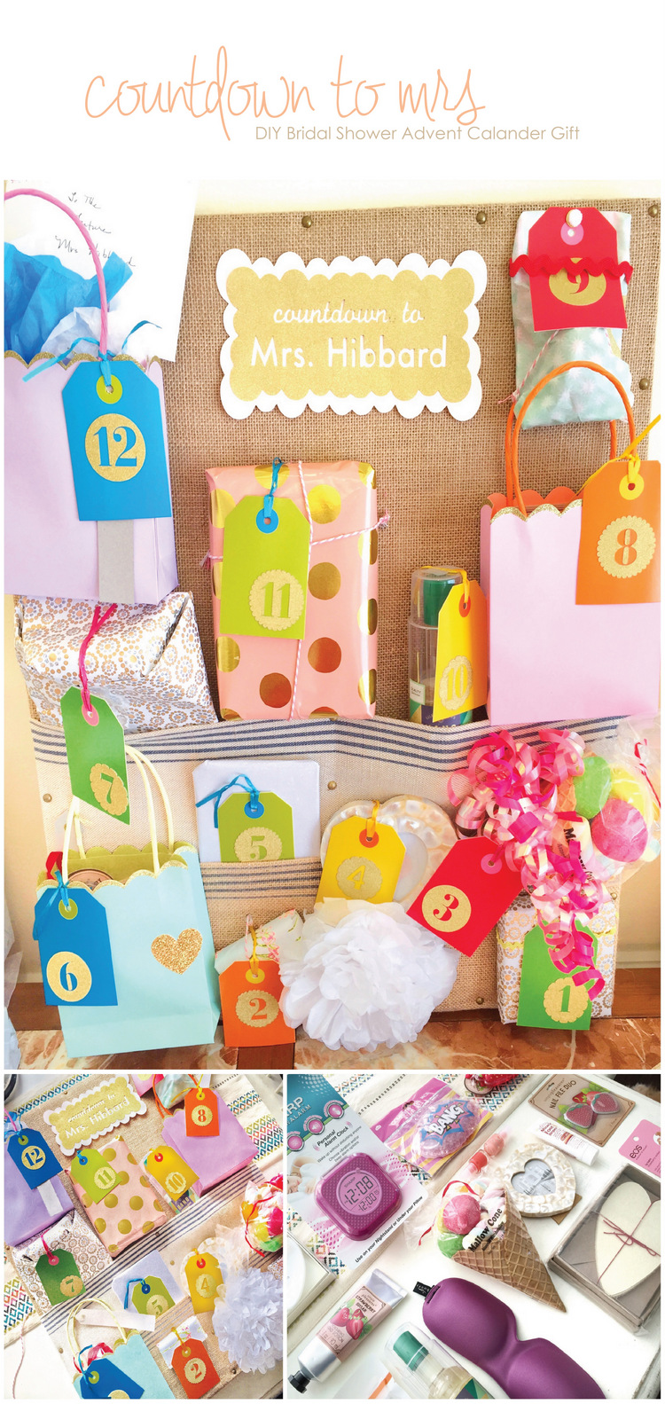 DIY Bridal Shower Advent Calendar Gift